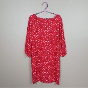 NWT GAP floral 3/4 sleeve midi dress size small